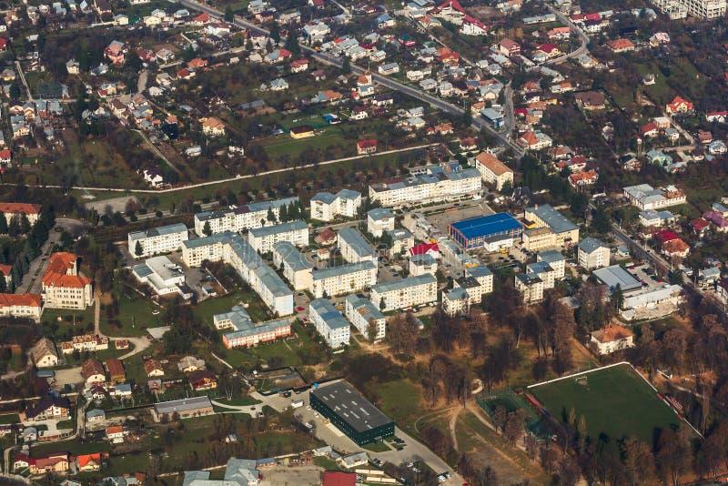 Ciudad vista desde arriba fotos de archivo