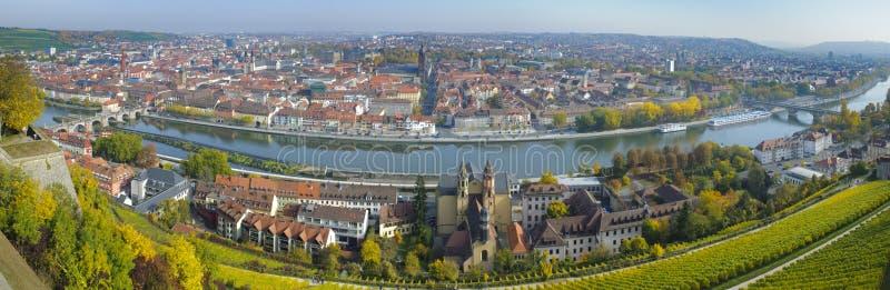 Ciudad Wurzburg foto de archivo libre de regalías