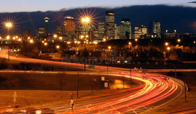 Ciudad y el tráfico fotografía de archivo libre de regalías
