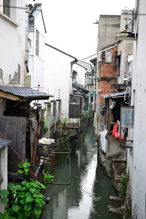 Ciudad y jardines viejos de Suzhou, Zhejiang, China, ciudad china del agua fotografía de archivo libre de regalías