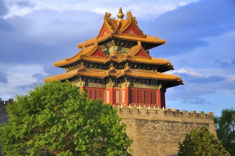 Ciudad y nube prohibidas Pekín de China imagen de archivo