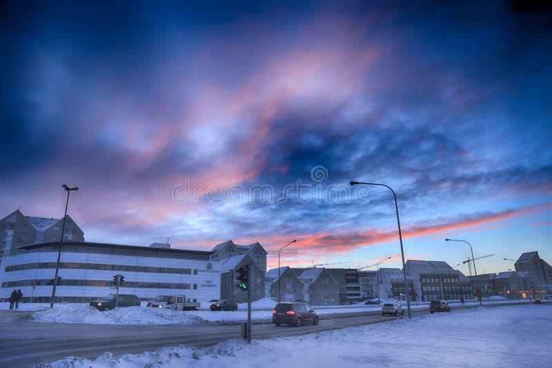 Ciudad y paisaje de Islandia Reykjavik fotografía de archivo