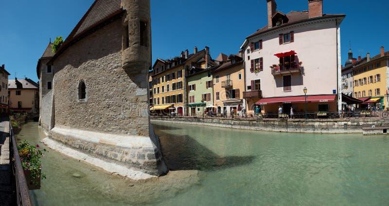 Ciudad y prisión viejas medievales de Annecy, Francia imágenes de archivo libres de regalías