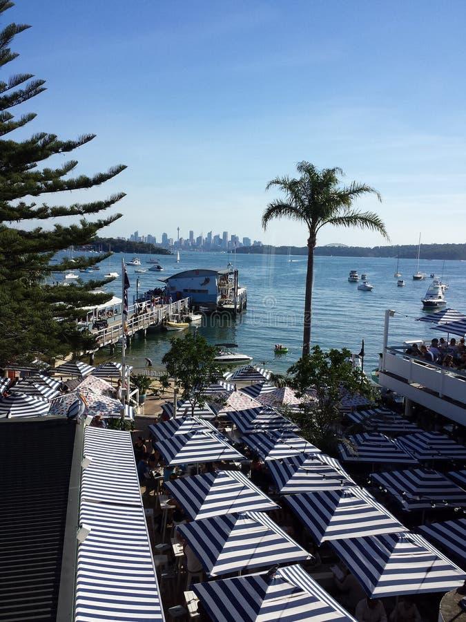 Ciudad y puerto de Sydney foto de archivo
