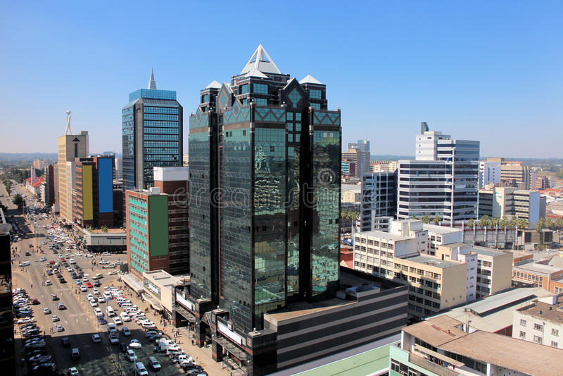 Ciudad Zimbabwe de Harare fotos de archivo