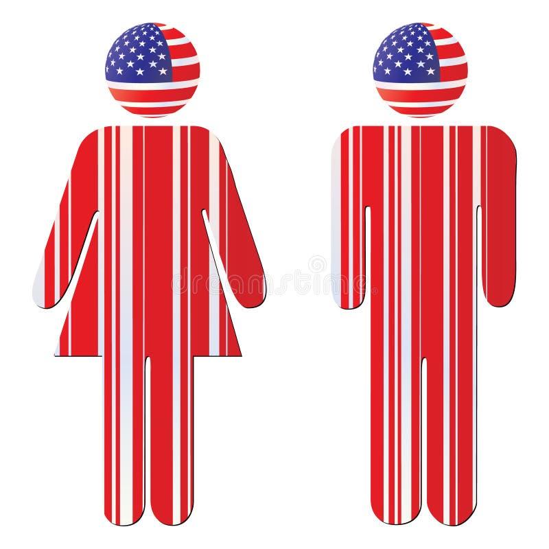 Ciudadano americano ilustración del vector