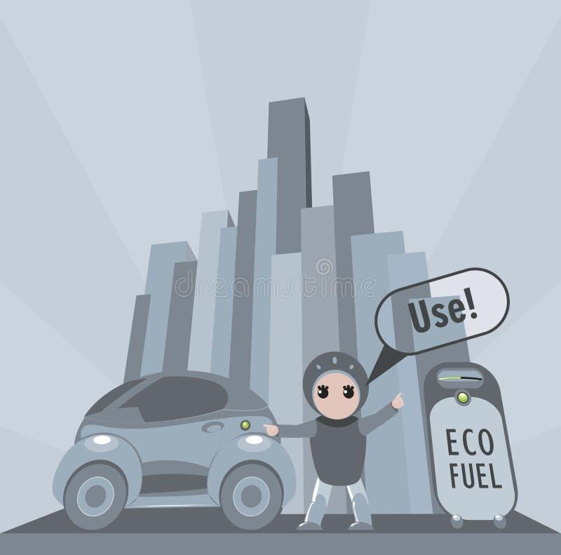 Ciudadano respetuoso del medio ambiente libre illustration