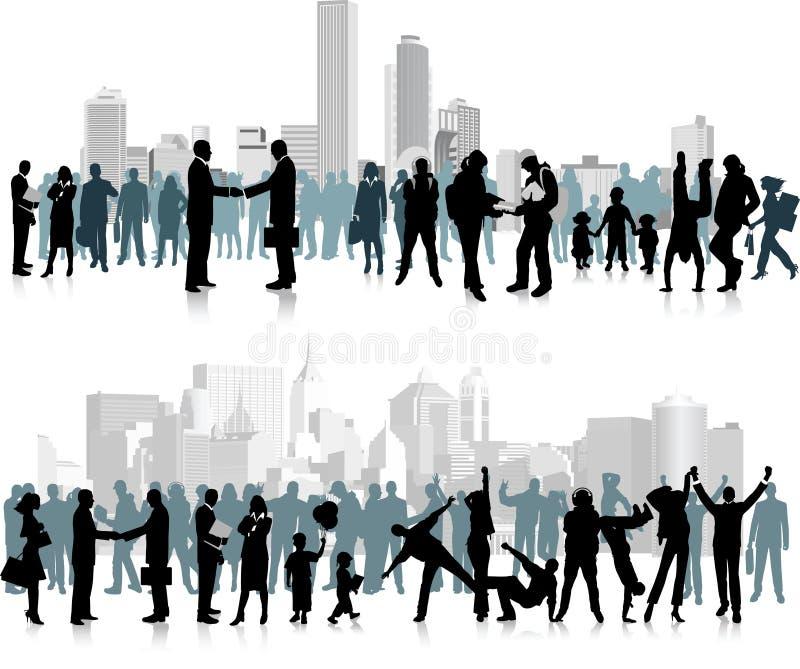 Ciudadanos. stock de ilustración