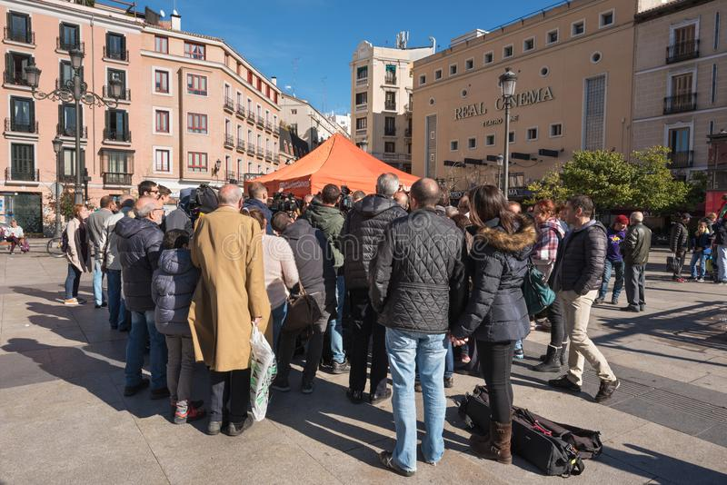 Ciudadanos, spanish politic group douring a meeting. Madrid, Spain - November 13, 2016: Ciudadanos, spanish politic group douring a meeting on November 13, 2016 royalty free stock photos