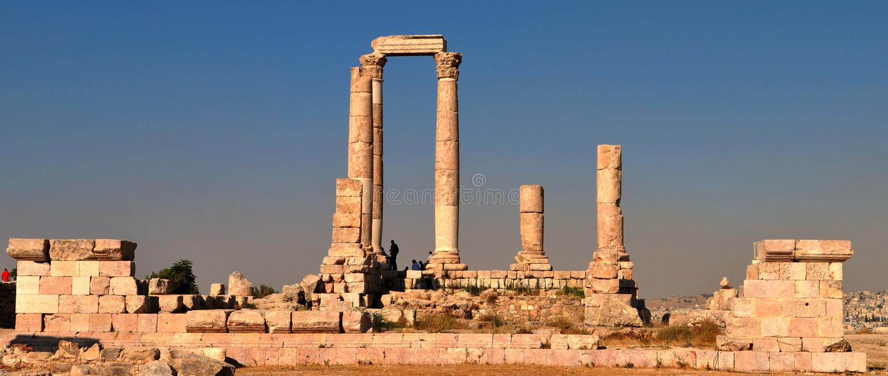 Ciudadela Amman, Jordania fotos de archivo libres de regalías