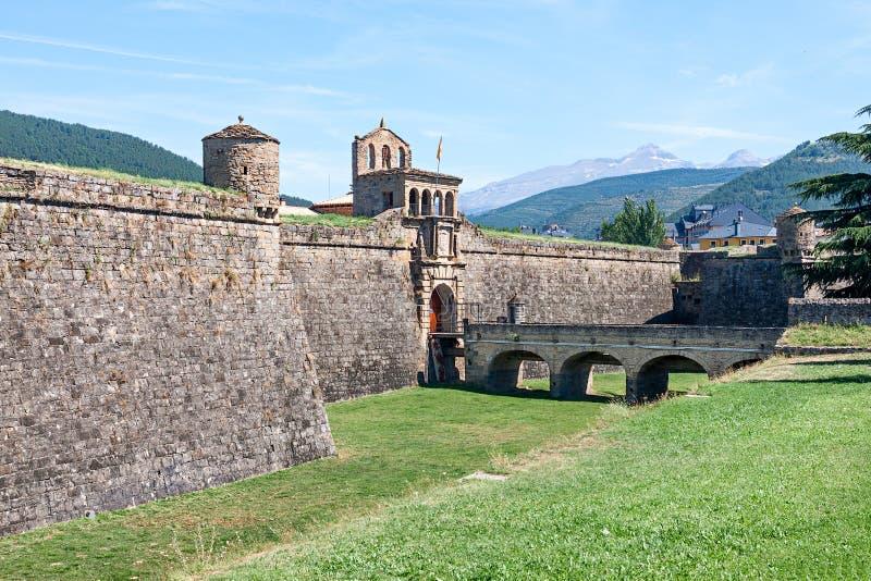 Ciudadela av Jaca arkivbilder