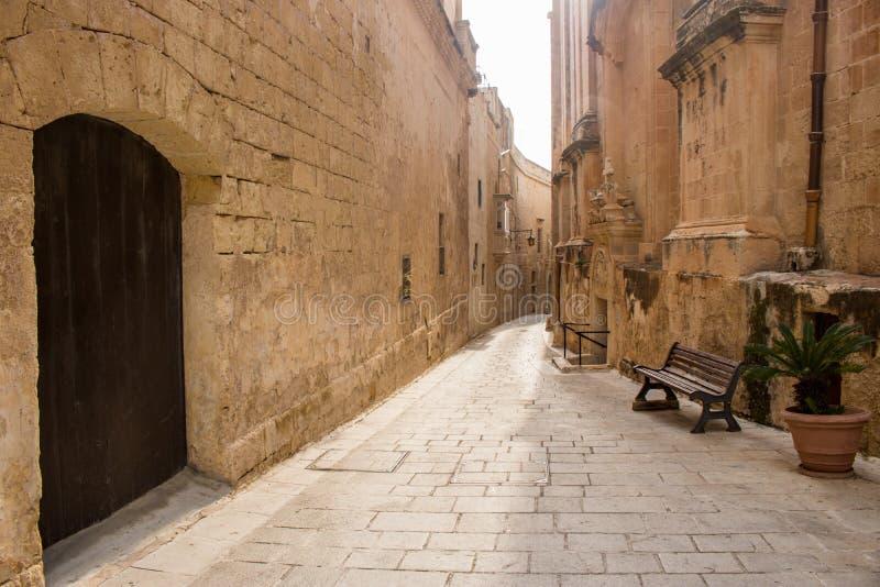 Ciudadela de Mdina, Malta foto de archivo libre de regalías