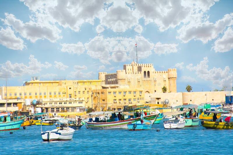 Ciudadela de Qaitbay, Alexandria Egypt fotografía de archivo