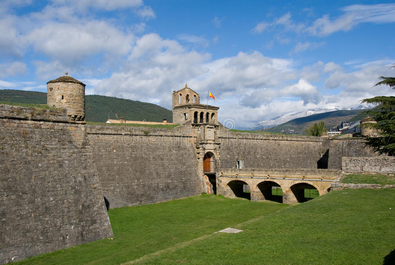 Ciudadela Jaca royalty free stock image