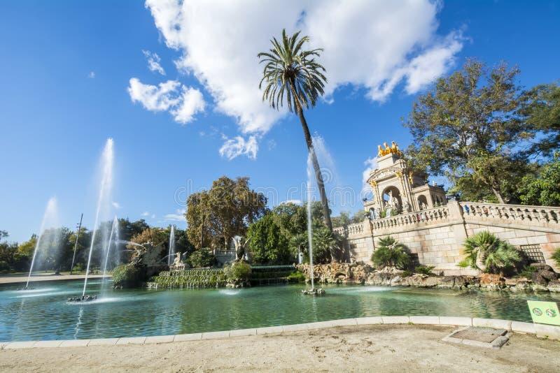 Ciudadela-Park, Barcelona, Spanien stockfotografie