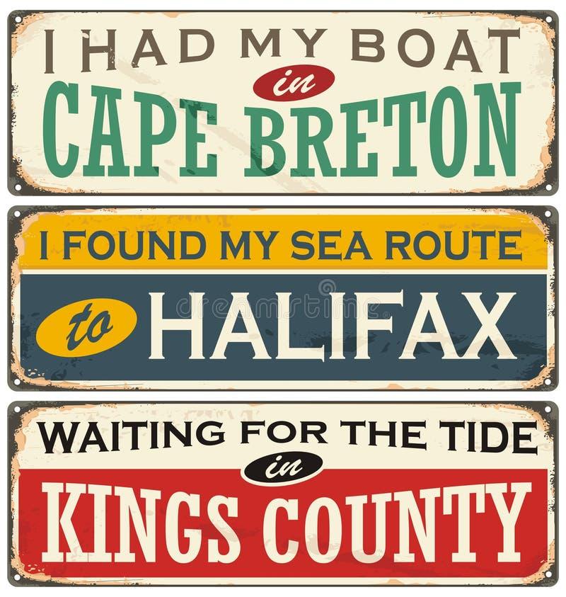 Ciudades de Canadá y destinos del viaje libre illustration