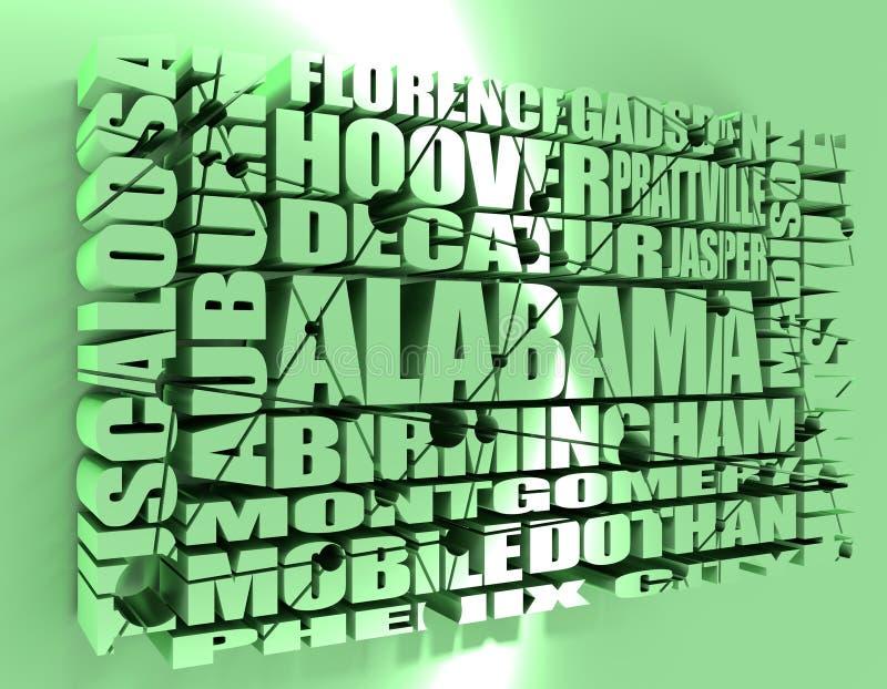 Ciudades del estado de Alabama libre illustration
