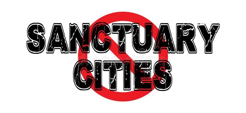 Ciudades del santuario de la prohibición ilustración del vector