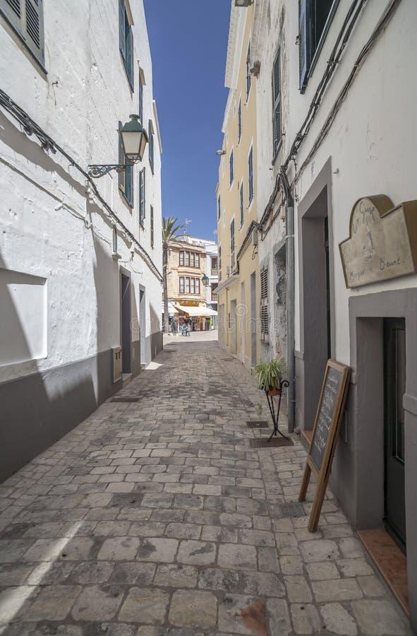 Ciutadella,巴利阿里群岛,西班牙 库存照片