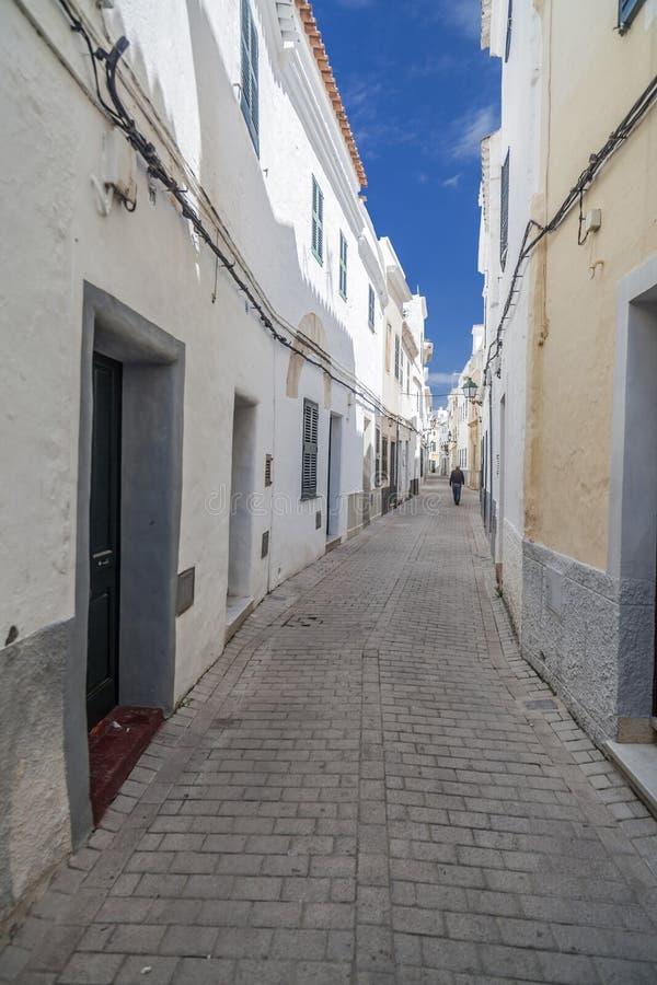 Ciutadella,巴利阿里群岛,西班牙 免版税库存图片