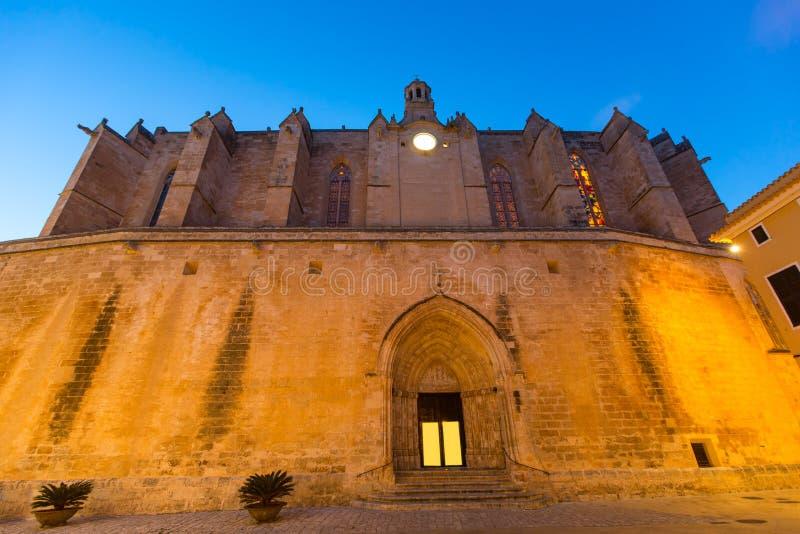 Ciutadella Menorca大教堂在拜雷阿尔斯的Ciudadela 库存照片