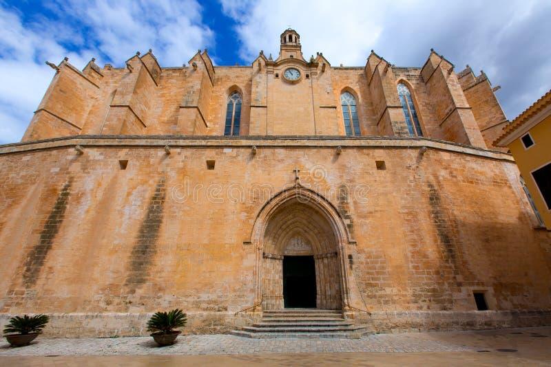 Ciutadella Menorca大教堂在拜雷阿尔斯的Ciudadela 免版税库存图片