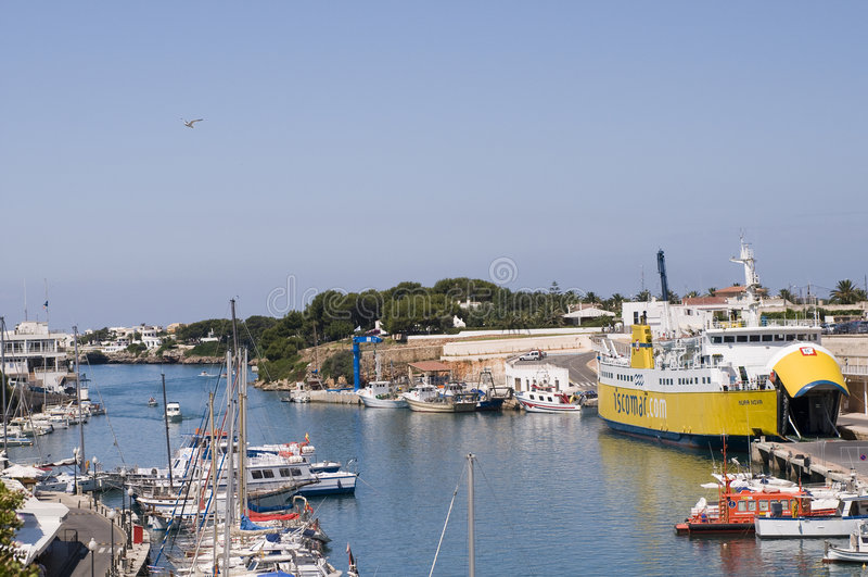 Ciutadella Menorca portuário Spain imagens de stock
