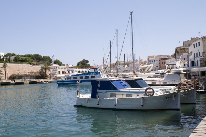 Ciutadella Menorca portuário Spain fotografia de stock royalty free