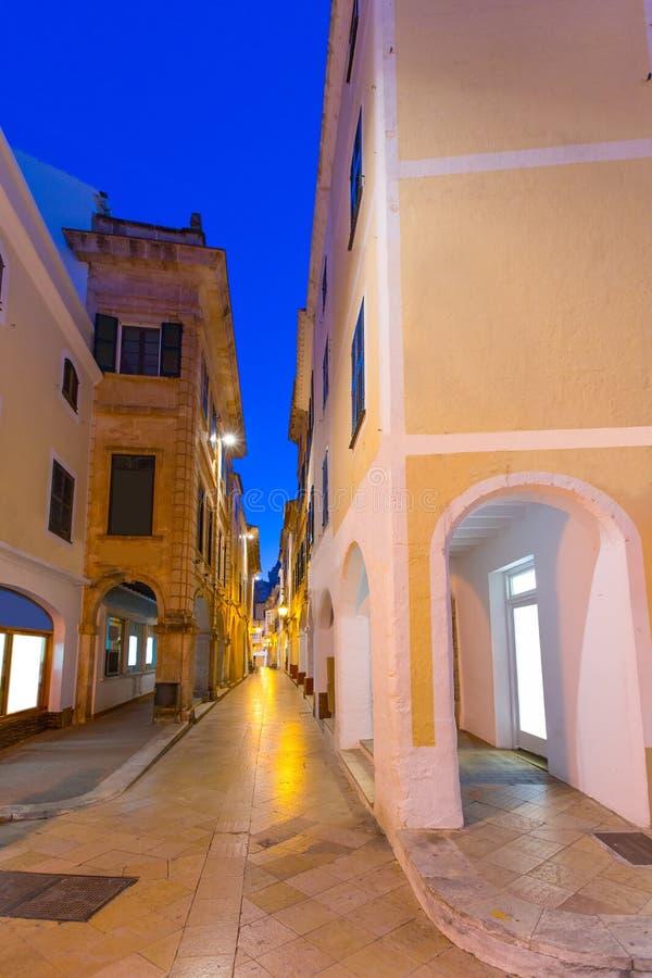 Ciutadella Menorca Ses Voltes arque Ciudadela photos libres de droits