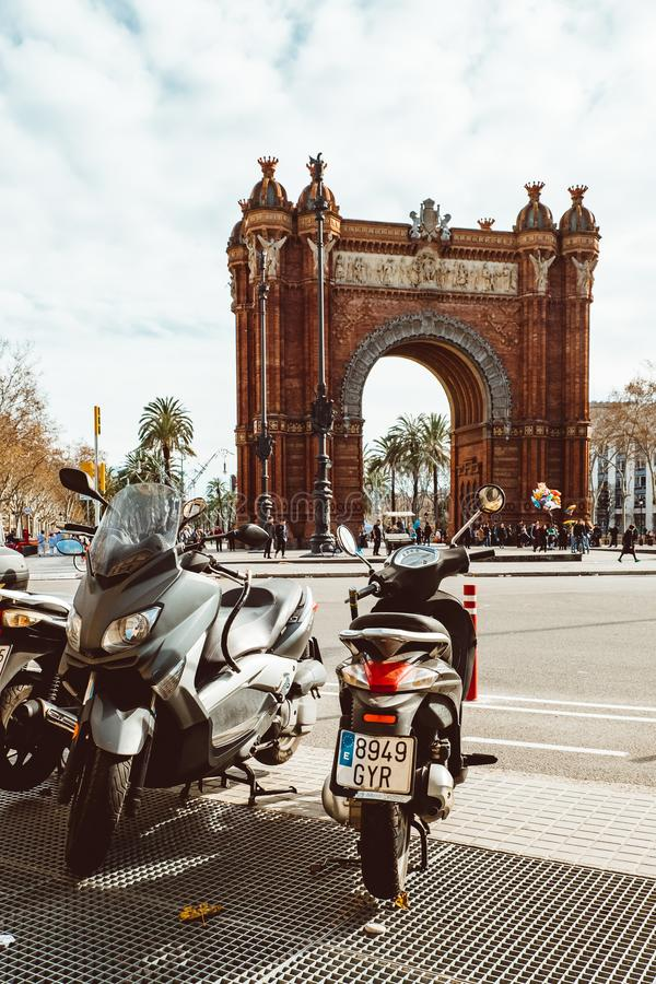 Ciutadella Parc est un parc dans le secteur de Ciutat Vella, ville de Barcelone images stock