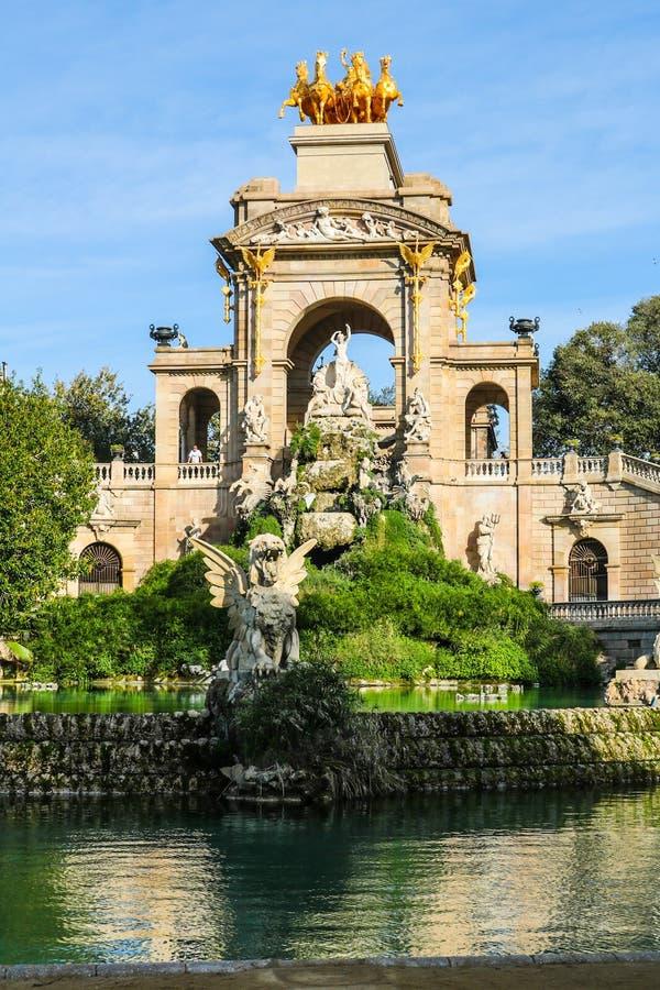 Ciutadella park, Barcelona Hiszpania zdjęcie stock