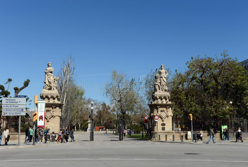 Ciutadella Park.Barcelona is the second largest city in Spain, the capital of the Autonomous region of Catalonia and of the provin stock image