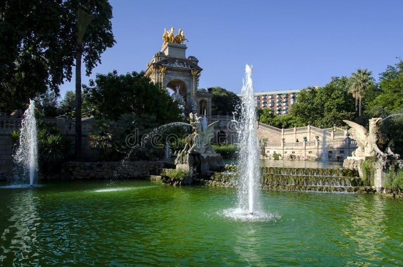 Ciutadella park w Barcelona obraz royalty free