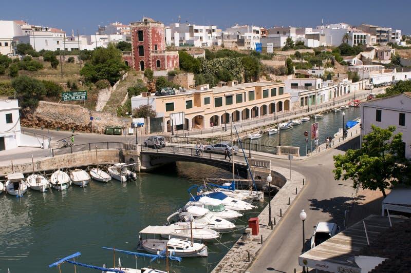 Ciutadella PortMenorca Spanien stockbild