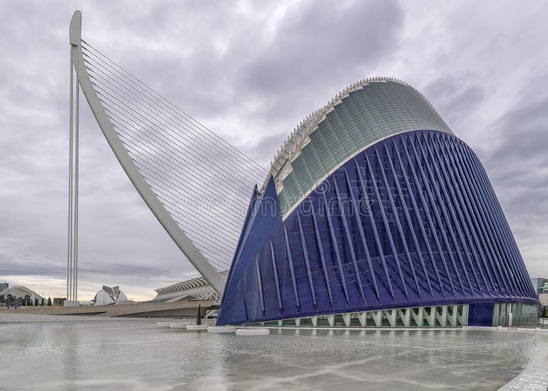 Ciutat de les Arts ι les Ciències, Βαλένθια, Ισπανία στοκ εικόνες με δικαίωμα ελεύθερης χρήσης