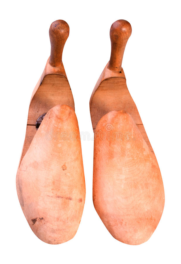 Civière en bois de chaussure rétro photographie stock libre de droits