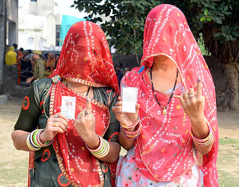 Civic Body Polls in Rajasthan stock images