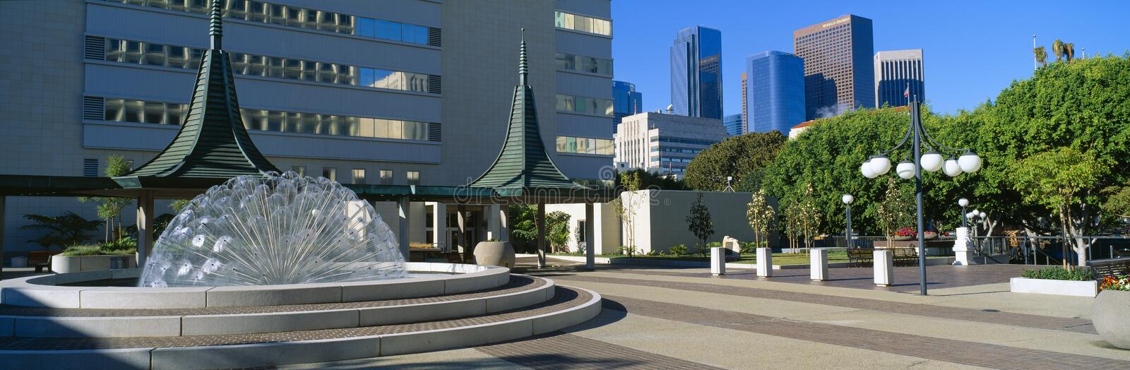Civic Center East, Los Angeles, California royalty free stock photography