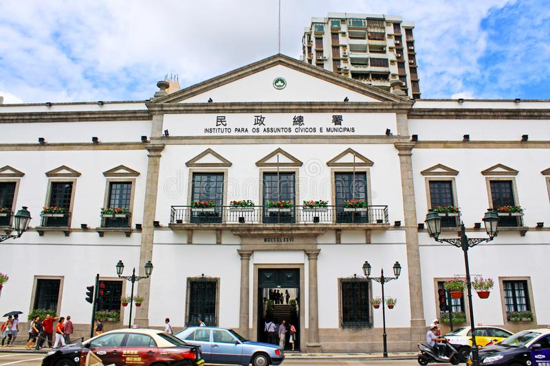 Civic and Municipal Affairs Bureau, Macau, China royalty free stock photography