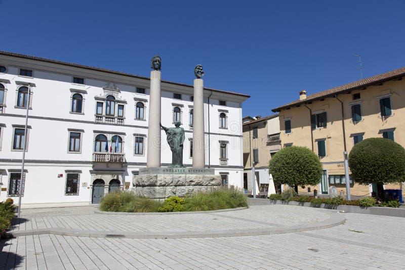 Cividale del Friuli Foro Giulio Cesare Square foto de archivo libre de regalías