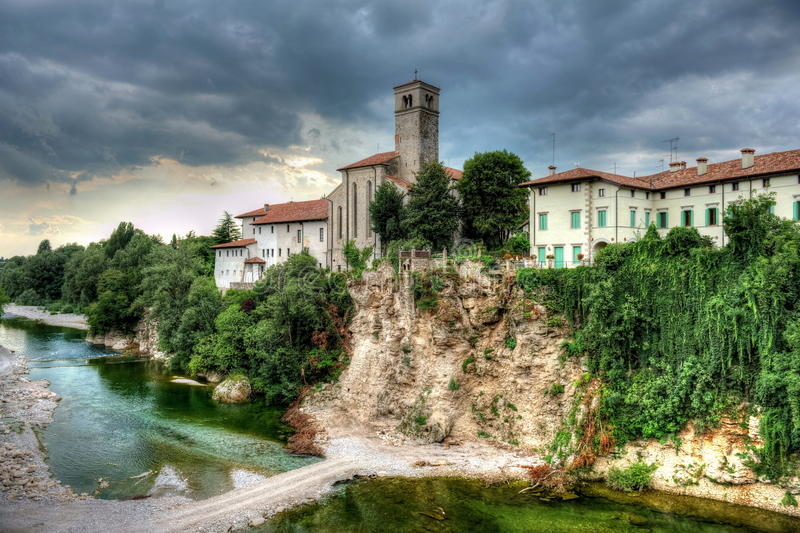CIVIDALE (Ud) BRIDGE OF THE DIABLE stock image