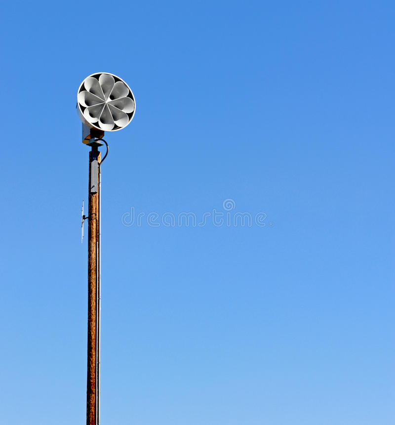 Civil defense siren. Severe weather and civil defense siren royalty free stock photography