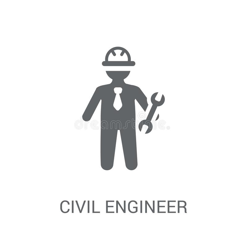 Civil Engineer icon. Trendy Civil Engineer logo concept on white. Background from Professions collection. Suitable for use on web apps, mobile apps and print stock illustration