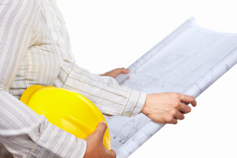 Civil engineer and partner stock image