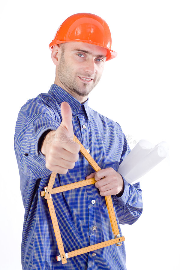 Download Civil engineer thumbs up stock image. Image of good, designer - 3488183