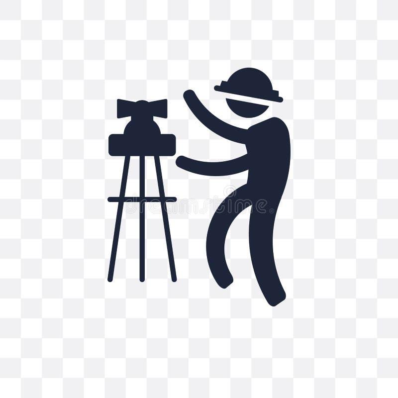 Civil Engineer transparent icon. Civil Engineer symbol design fr. Om Professions collection. Simple element vector illustration on transparent background vector illustration