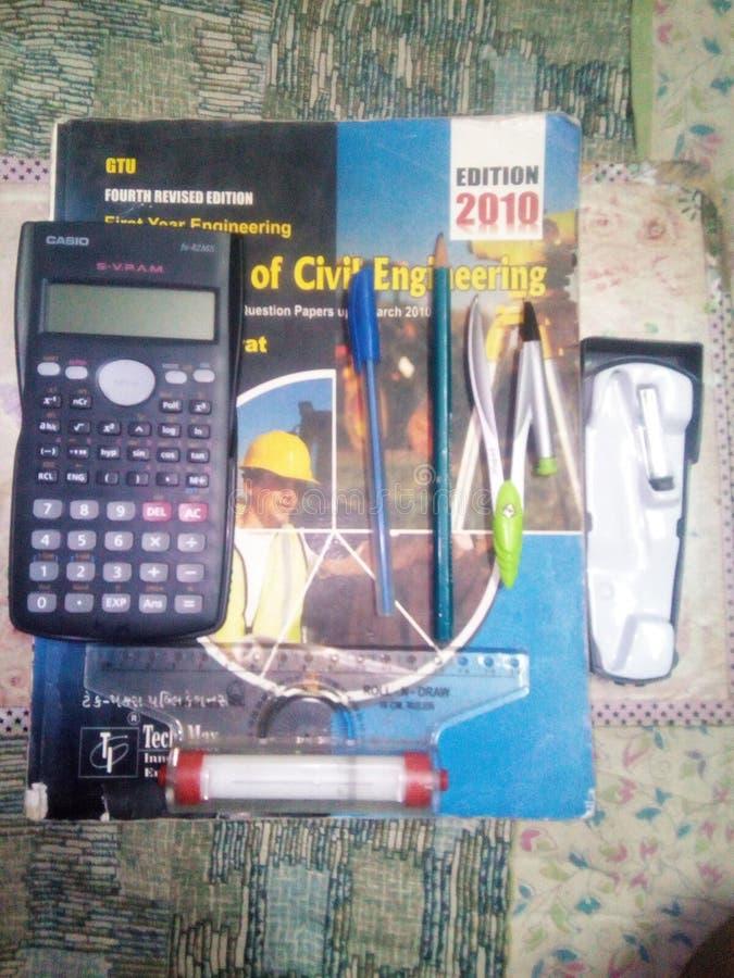 Civil engineering study materials. stock photos