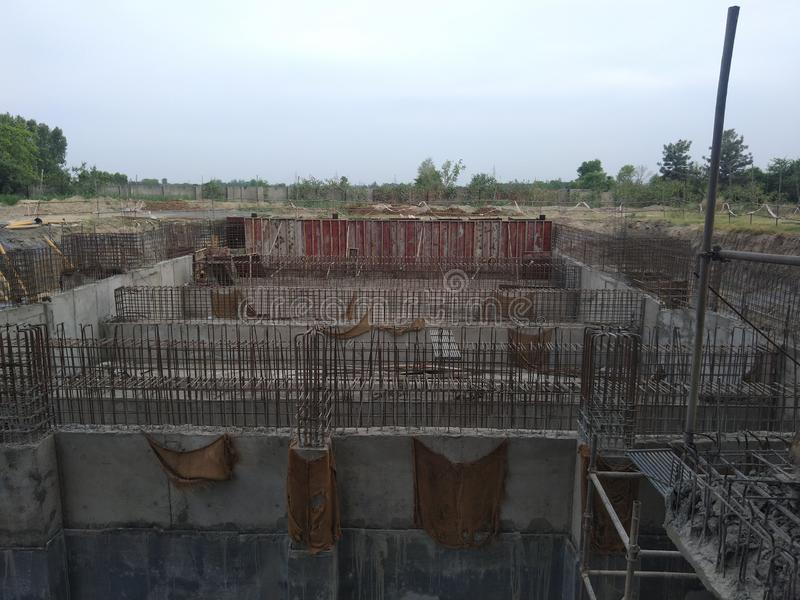 Civil engineering work. Civilconstruction, cement, ultratech royalty free stock image