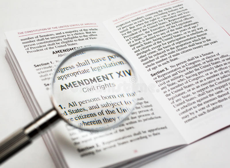 Civil rights in the constitution of the United States stock photos