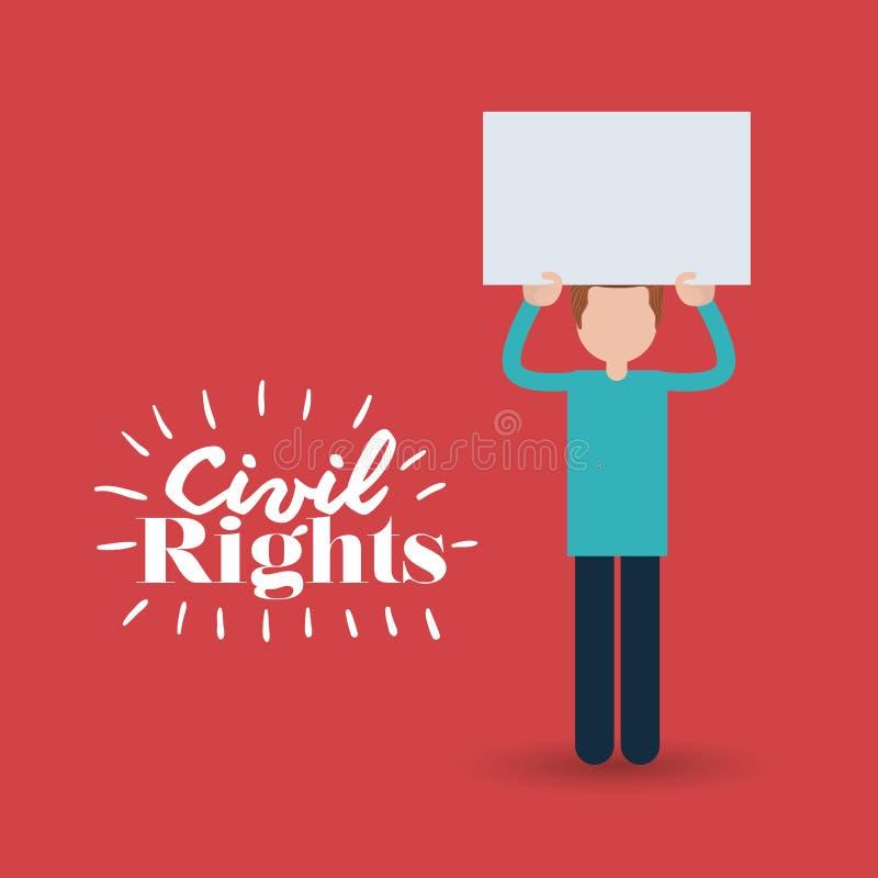 Civil rights design vector illustration. Civil rights design, vector illustration eps10 graphic stock illustration